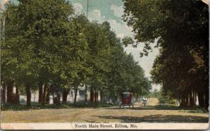 Edina Missouri~North Main Street Homes~Ladies on Sidewalk~Vintage Auto~1911