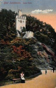 Poland Bad Salzbrunn Szczawno-Zdrój Anna Turm Postcard