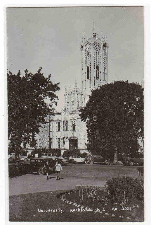University of Auckland New Zealand 1950c RPPC Real Photo postcard
