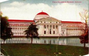Vtg Tarjeta Postal 1910s Chicago Illinois Il Campo Colombiano Museo Unp
