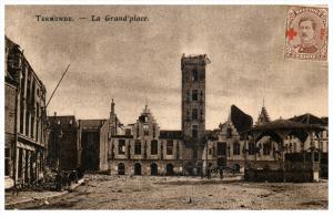 21891 Belgium Termonde  1914 La Grande 'place