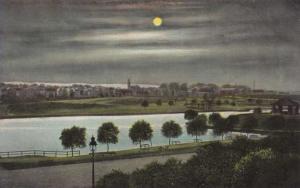 Moonlight on the Lake at Branch Brook Park - Newark NJ, New Jersey - DB