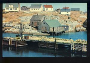 Peggy's Cove, Nova Scotia/NS, Canada Postcard, Fishing Dock & Shacks