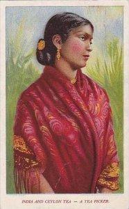 India And Ceylon Tea A Tea Picker 1908
