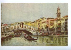 138490 Italy Venice VENEZIA Rialto Bridge Ponte di Rialto OLD