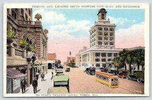 Tampa Florida~Florida Avenue South~City Hall & Terrace Hotel Entrance~1920s
