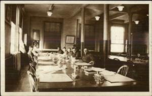 Mess Hall - Ft. Warren Boston MA Written on Back c1915 Real Photo Postcard