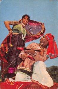 Folk Dancers India Postal Used Unknown
