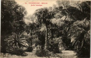 CPA AK INDOCHINA Saigon Jardin Botanique VIETNAM (956788)