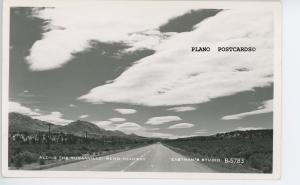 NEVADA, ALONG THE SUSANVILLE-RENO HIGHWAY,  RPPC REAL PHOTO POSTCARD