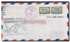 Honduras Letter 1 flight Tegucigalpa Miami April 28, 1959