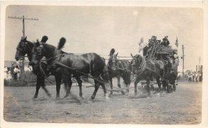 F53/ Burwell Nebraska RPPC Postcard c1910 Circus Horse Stagecoach