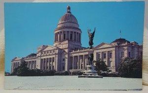 Snow Scene Capitol Little Rock Arkansas Vintage Postcard