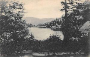 Oliverea New York panoramic birds eye view Winnisook Club antique pc ZA440720