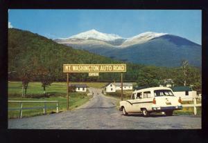 Mount Washington, New Hampshire/NH Postcard, Start Of Auto Road, White Mnts