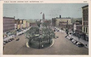 New York Watertown Public Square Looking East 1946