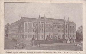 Kentucky Louisville Proposed Building For Baptist Woman's Missionary Union Tr...