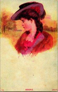Vtg Postcard 1908 Porter Vintage Ladies - Reverie #111