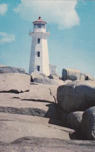 Peggy's Cove LIGHTHOUSE , Nova Scotia , Canada , 50-60s