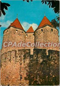 Postcard Modern Carcassonne Cite towers of the Gate Narbonnaises