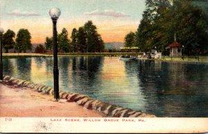 Pennsylvania Philadelphia Willow Grove Park Lake Scene