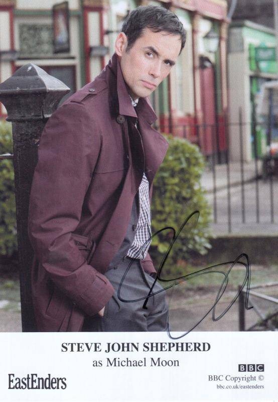 Steve John Shepherd as Michael Moon BBC Eastenders Hand Signed Cast Card Photo