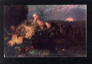 029925 Baby Elf on LION & BEAR vintage Colorful PC