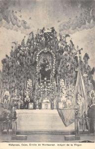Matanzas Cuba Ermita De Montserrat Religious Altar Antique Postcard K39838