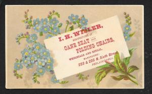 VICTORIAN TRADE CARD IH Wisler Cane & Folding Chairs