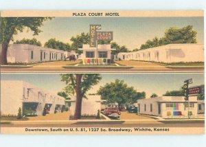 Linen MOTEL SCENE Wichita Kansas KS AD9772