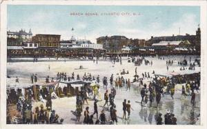 Beach Scene Atlantic City New Jersey