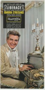 BARBRA STREISAND LIBERACE HARRAHS TAHOE 1963 Concert Handbill GODFREY PC NV