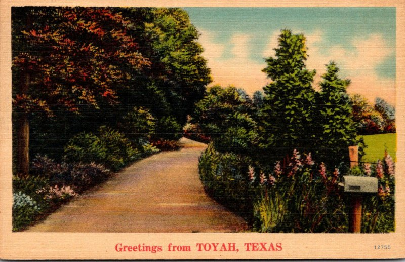 Texas Greetings From Toyah 1944