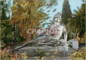 Postcard Modern Corfu Achilles Dying