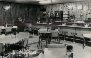 Lake Village AR Mike's Caf' Interior Lunch Counter Real Photo Postcard