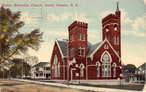 Chester South Carolina Bethel Methodist Church Antique Postcard K46313