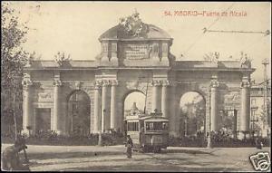 spain, MADRID, Puerta de Alcala, TRAM Line 203 (1912)