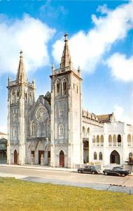 Panama Old Vintage Antique Post Card Immaculate Conception Cathedral Colon Un...