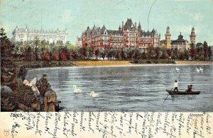 ZURICH SWITZERLAND~ALPENQUAI~1904 POSTCARD
