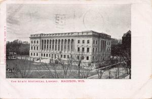 The State Historical Library, Madison, Wisconsin, Early Postcard, Used in 1904