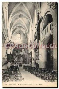 Postcard Grasse Old Nave of the Cathedral