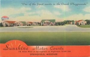 Linen Roadside 1940s Sunshine Motor Courts Springfield Missouri Teich 8061