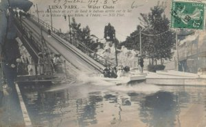 RP: PARIS, France, 1909 ; LUNA AMUSEMENT PARK - Water Chute Ride