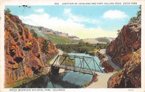 Rocky Mtn Nat'l Park Colorado~Bridge At Junction~Loveland Fort Collins Road~1930