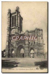 Postcard Old Troyes La Cathedrale Saint Pierre and Paul
