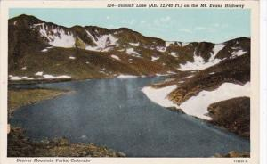 Colorado Denver Summit Lake On The Mt Evans Highway