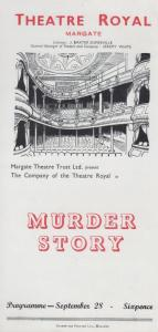 Murder Story Ludovic Kennedy Rare Theatre Royal Margate Kent Programme