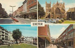 EXETER, England, 1940-60s; High Street, Cathedral, Cathedral Yard, Princesshay