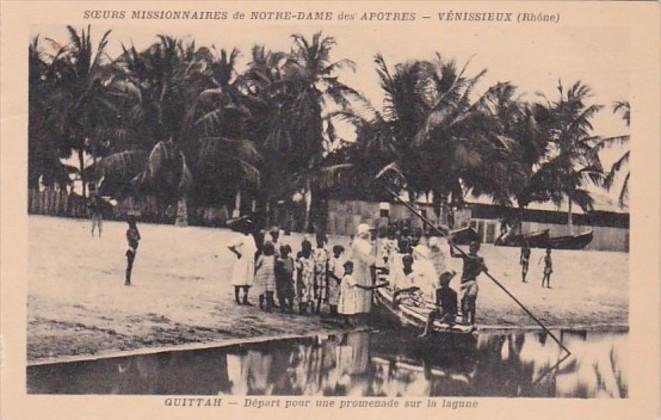 Africa Ghana Quittah Depart pour une promenade sur la lagune