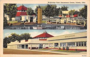 Toledo, Ohio, OH, USA Postcard Walbridge Park Amusement Center 1949